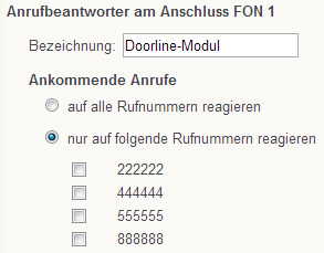 Programmiernsicht Fritzbox an Türmanager